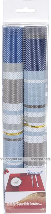 Набор 2 сервировочных коврика Wangelis Denim 30х45см, полиэстер