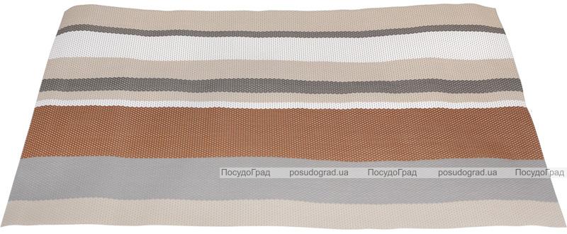 Набір 2 сервірувальних килимка Wangelis Cocoa 30х45см, поліестер