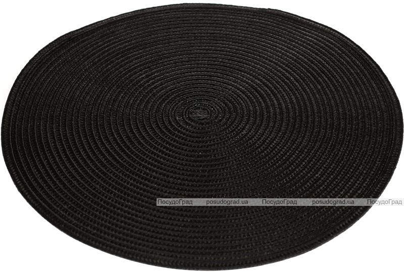 Набір 6 сервірувальних килимка Wangelis Royal Black Ø38см, поліестер
