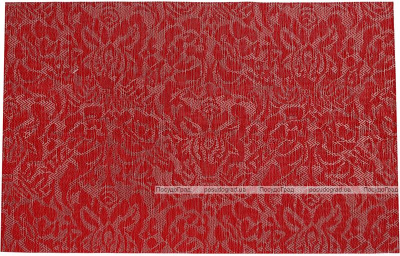 Набір 6 сервірувальних килимка Wangelis Red Flowers 30х45см, поліестер