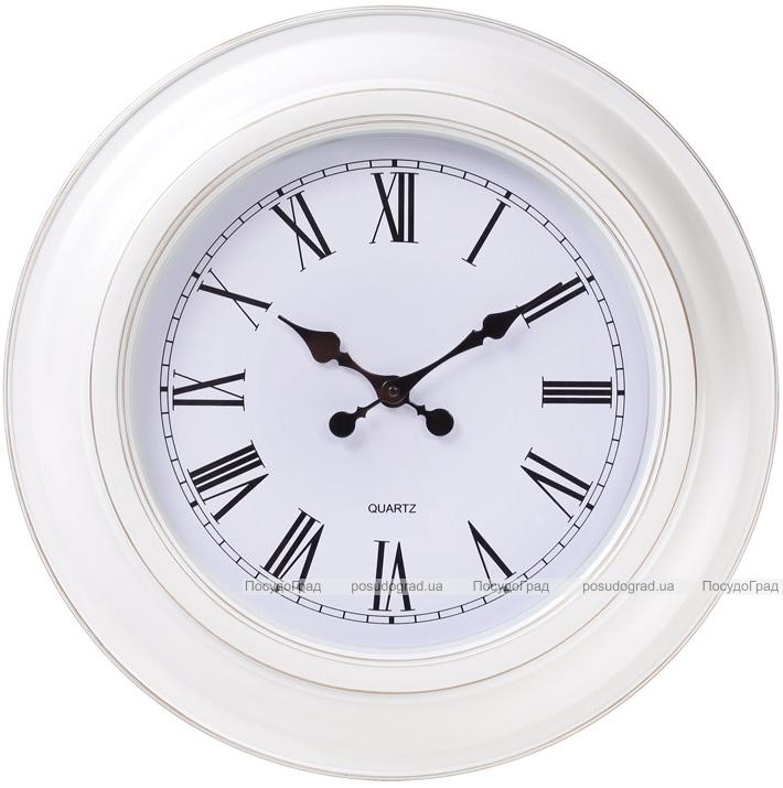 Часы настенные Winchester Ø51см, белые с золотой патиной