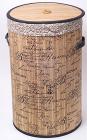 "Кошик для білизни ""Bamboo Tube"" циліндрична, ""Написи"", складна, висота 55см"