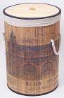 """Корзина для белья """"Bamboo Tube"""" цилиндрическая, """"Здание"""", складная, высота 55см"""