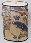 Корзина для белья Bamboo Tube овальная Птицы, складная, высота 55см