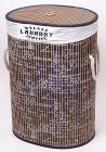 """Кошик для білизни """"Bamboo Tube"""" овальна """"Написи чорно-білі"""", складна, висота 55см"""