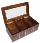 Коробка для чая TEA 3-х секционная