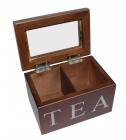Коробка для чая TEA 2-х секционная