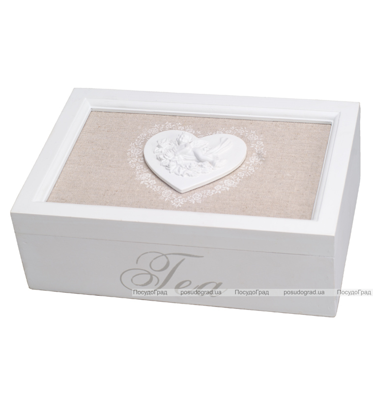 Коробка для чая Tea Нearts 6-ти секционная 24x16x8см