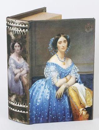 """Деревянная шкатулка """"Живопись Портрет принцессы Альбер де Броли"""" Мини, 17x11x5см"""