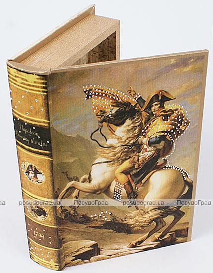 """Деревянная шкатулка """"Живопись Наполеон на перевале Сен-Бернард"""", 26x17x5см"""