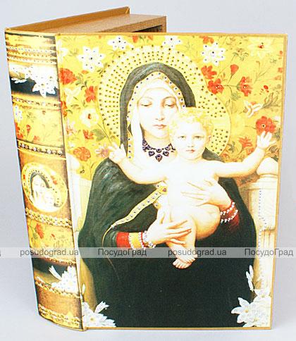 """Деревянная шкатулка """"Живопись Мадонна с Младенцем"""", 33x22x7см"""