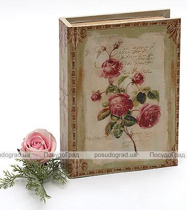 "Деревянная шкатулка ""Стефани Book with Rosa"", 23x17,5x5см"