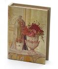 "Деревянная шкатулка ""Стефани Book with Vase"", 23x17,5x5см"