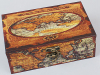 """Деревянная шкатулка """"Шарлотта Карта Мира"""", 16x10x6см"""