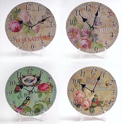 "Часы настенные круглые ""Прованс. Цветы"" 20см"