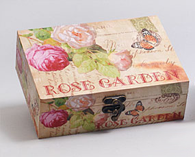 "Деревянная шкатулка ""Сад Винтаж Garden of Roses"", 18x13x6см"