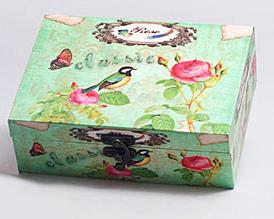 "Деревянная шкатулка ""Сад Винтаж Singing Bird"", 18x13x6см"