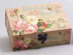 "Деревянная шкатулка ""Сад Винтаж Roses in Orange Tones"", 18x13x6см"