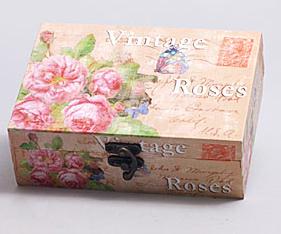 "Деревянная шкатулка ""Сад Винтаж Roses in Roses in Pink"", 18x13x6см"