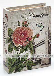 "Деревянная шкатулка ""Стефани City of London"", 23x17,5x5см"