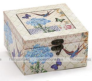 """Деревянная шкатулка """"Стефани Birdsong Agapanthus"""", 14x14x8см"""