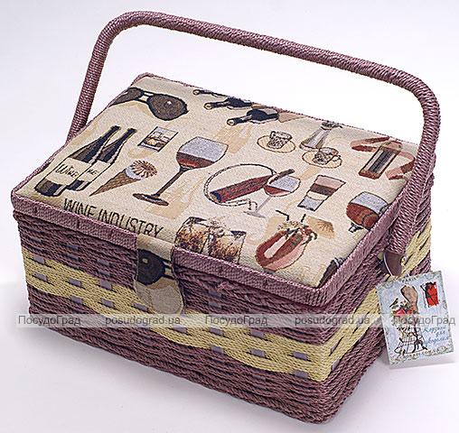"Шкатулка для рукоделия ""Констанция Wine Industry"", 27x19.5x13.3см"