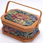 "Шкатулка для рукоделия ""Констанция Tapestry with Roses"", 27.3x20.8x13см"