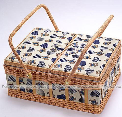 """Шкатулка для рукоделия """"Констанция Tapestry Bears"""", 36x28x16см"""