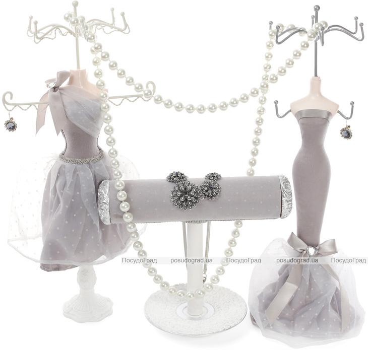 """Підставка для прикрас """"Сіра сукня"""" 12х10х39.5см, підвіска"""