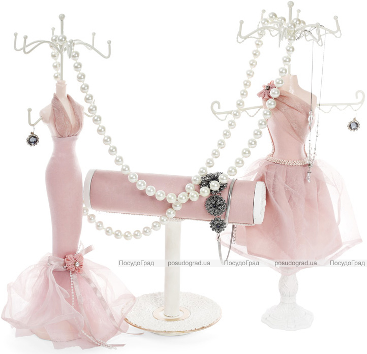 """Підставка для прикрас """"Рожева сукня"""" 12х10х39.5см, підвіска"""