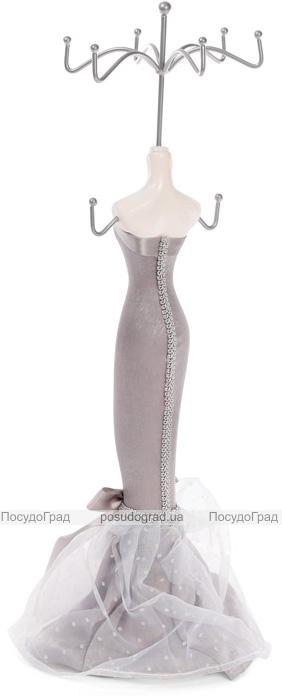 """Подставка для украшений """"Серое платье"""" 12х10х39.5см, подвеска"""