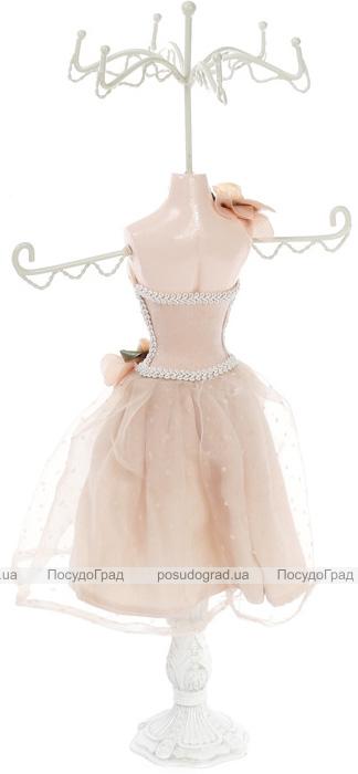 """Підставка для прикрас """"Бежева сукня"""" 17.5х12.5х40.5см, підвіска"""