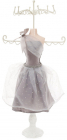 """Підставка для прикрас """"Сіра сукня"""" 17.5х12.5х40.5см, підвіска"""