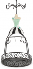 """Подставка для украшений """"Нарядное платье"""" 14х14х28.5см, с сеткой"""