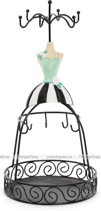 """Підставка для прикрас """"Ошатна сукня"""" 14х14х28.5см, з сіткою"""