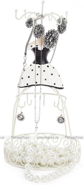 """Підставка для прикрас """"Сукня в горошок"""" 14х14х28.5см, з сіткою"""