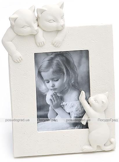 """Фоторамка BabyRoom """"Котики"""" для фото 10х15см (белая)"""