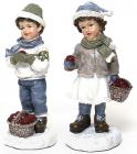"""Статуетка декоративна """"Дітки з яблуками"""" 15.5см"""