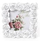 """Фоторамка Sweet White """"Белые Розы"""" квадратная 10.5х10.5см"""