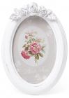 """Фоторамка Sweet White """"Білі Троянди"""" овальна 19х13.5см"""