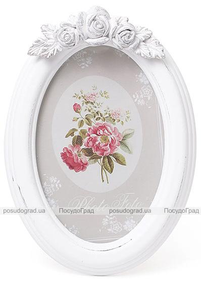 """Фоторамка Sweet White """"Белые Розы"""" овальная 19х13.5см"""