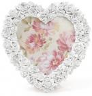"""Фоторамка Sweet White """"Білі Троянди"""" у формі серця, фото 14х15см"""