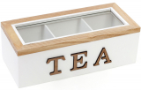 """Коробка-шкатулка """"I Love Tea"""" для чаю та цукру 3-х секційна 23x10.5x8см"""