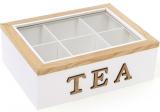 """Коробка-шкатулка """"I Love Tea"""" для чаю та цукру 6-ти секційна 23x17.5x8см"""
