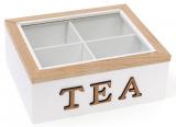"""Коробка-шкатулка """"I Love Tea"""" для чая и сахара 4-х секционная 20x18x8см"""