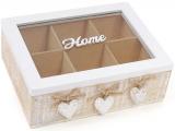 """Коробка-шкатулка """"Home"""" для чая и сахара 6-ти секционная 24x18x8см"""