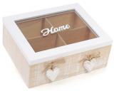 """Коробка-шкатулка """"Home"""" для чаю та цукру 4-х секційна 20x18x8см"""