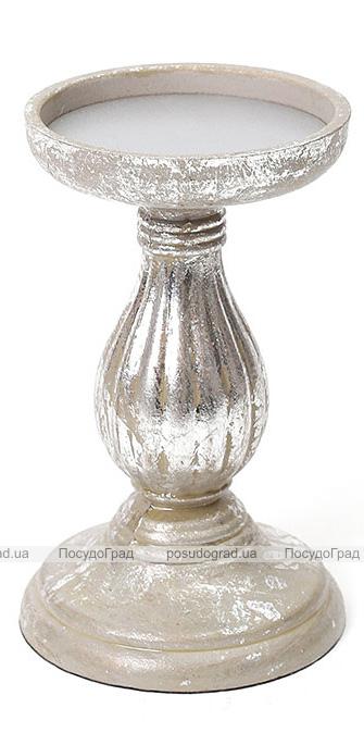 Підсвічник Mange 11х11х19см, срібло