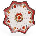 """Тарелка фарфоровая """"Рождественский орнамент"""" Ø20.5см"""