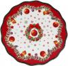 """Підставка для торта """"Різдвяний орнамент"""" 20.5см, порцеляна"""